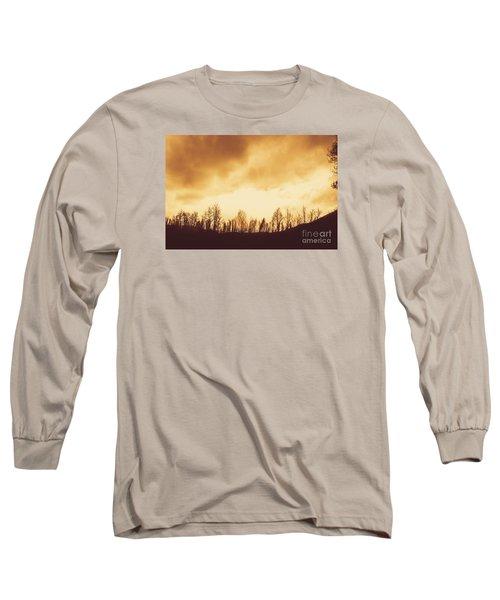 Dark Afternoon Woodland Long Sleeve T-Shirt