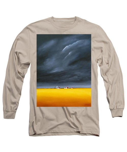 Long Sleeve T-Shirt featuring the painting Dark And Stormy by Jo Appleby