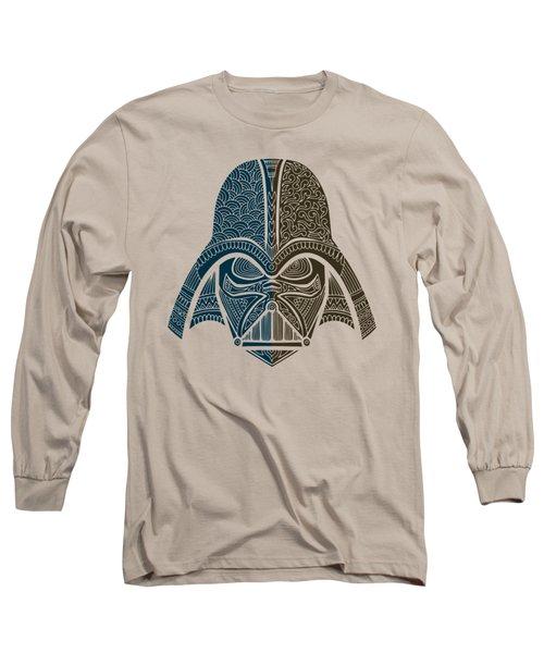 Darth Vader - Star Wars Art - Blue Brown Long Sleeve T-Shirt