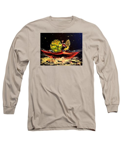 Date On A Plate Long Sleeve T-Shirt by Alexandria Weaselwise Busen