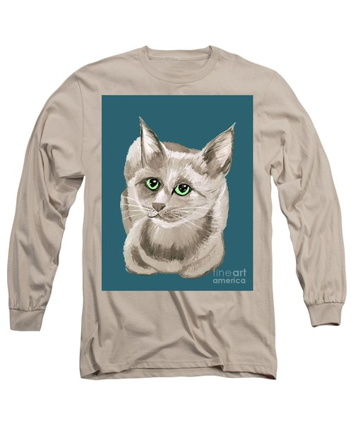 Long Sleeve T-Shirt featuring the painting Date With Paint Sept 18 2 by Ania Milo