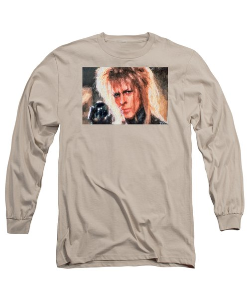 David Bowie  Long Sleeve T-Shirt by Louis Ferreira