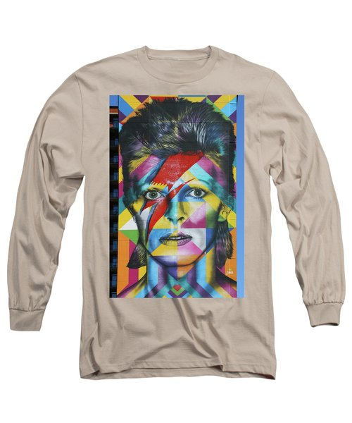 David Bowie Mural # 3 Long Sleeve T-Shirt