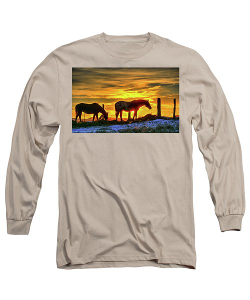 Dawn Horses Long Sleeve T-Shirt