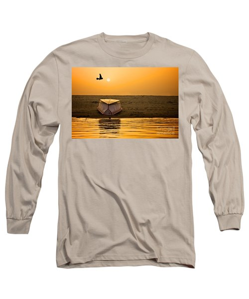 Dawn On The Ganga Long Sleeve T-Shirt by Valerie Rosen