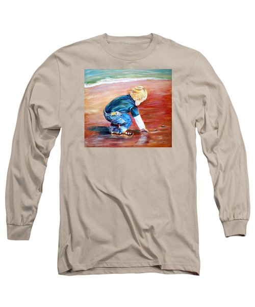 Day At The Beach Long Sleeve T-Shirt by Patricia Piffath