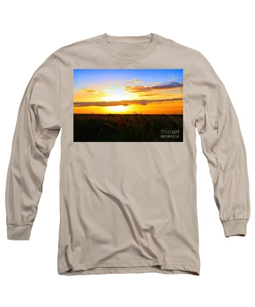 Long Sleeve T-Shirt featuring the photograph Day's End by DJ Florek