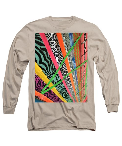 Dazzling Delirious Duct Tape Diagonals Long Sleeve T-Shirt by Douglas Fromm