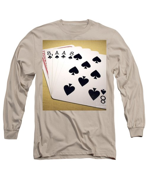 Dead Mans Hand Long Sleeve T-Shirt by Pg Reproductions