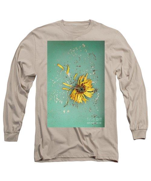 Long Sleeve T-Shirt featuring the photograph Dead Suflower by Jill Battaglia