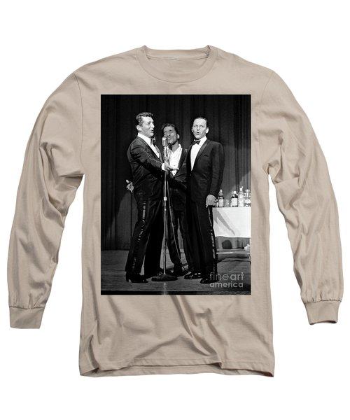 Dean Martin, Sammy Davis Jr. And Frank Sinatra. Long Sleeve T-Shirt