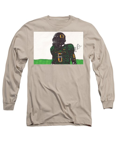 De'anthony Thomas 2 Long Sleeve T-Shirt by Jeremiah Colley