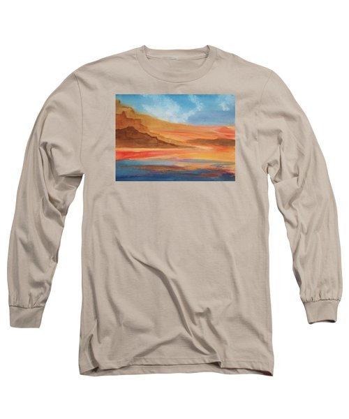 Long Sleeve T-Shirt featuring the painting Death Valley by Ellen Levinson
