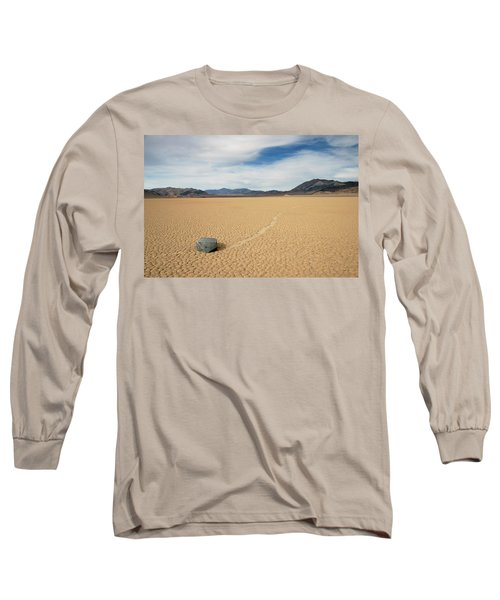 Long Sleeve T-Shirt featuring the photograph Death Valley Ractrack by Breck Bartholomew