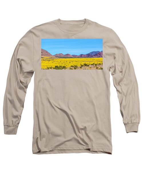 Death Valley Super Bloom 2016 Long Sleeve T-Shirt by Peter Tellone