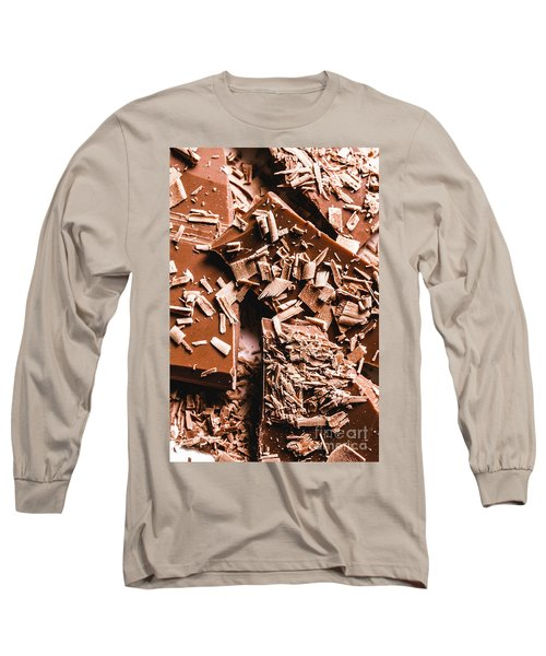 Decadent Chocolate Background Texture Long Sleeve T-Shirt
