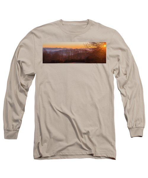 Deep Orange Sunrise Long Sleeve T-Shirt