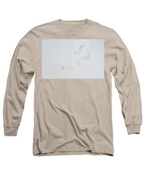 Long Sleeve T-Shirt featuring the mixed media Deepthroat by TortureLord Art