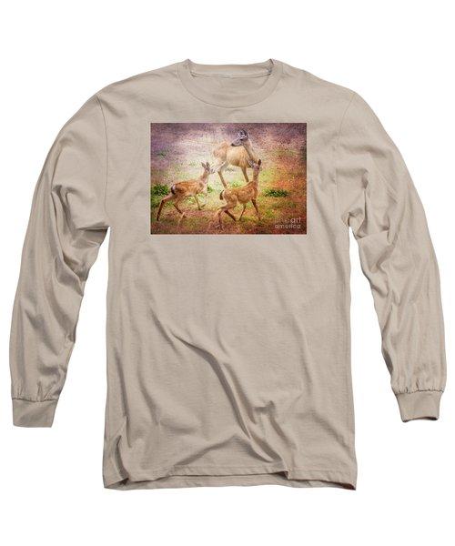 Deer On Vancouver Island Long Sleeve T-Shirt