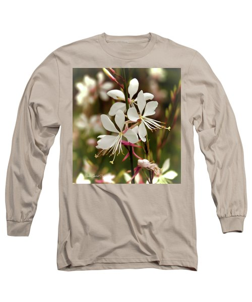 Delicate Gaura Flowers Long Sleeve T-Shirt by Joann Copeland-Paul