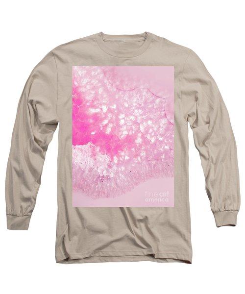 Delicate Pink Agate Long Sleeve T-Shirt