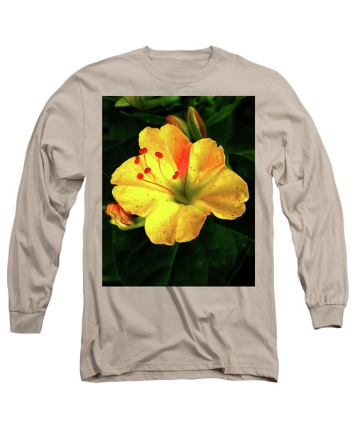 Delicate Yellow Flower Long Sleeve T-Shirt