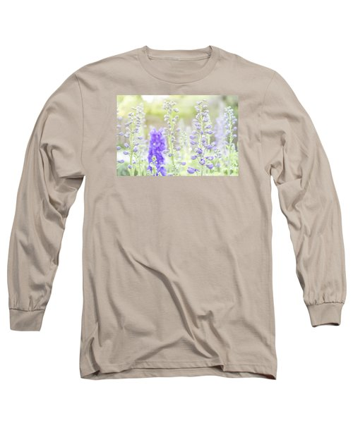 Delphiniums Long Sleeve T-Shirt by Mary Angelini