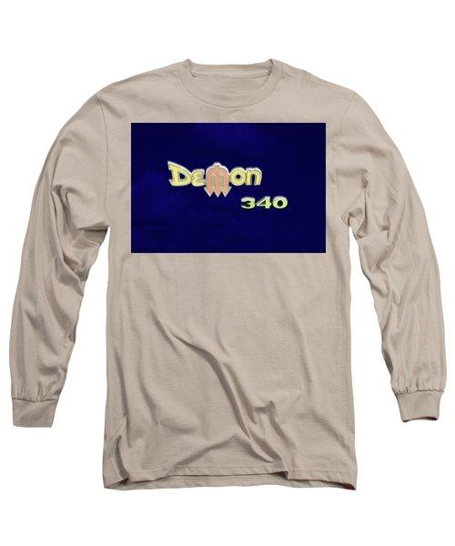 Long Sleeve T-Shirt featuring the photograph Demon 340 Emblem by Mike McGlothlen