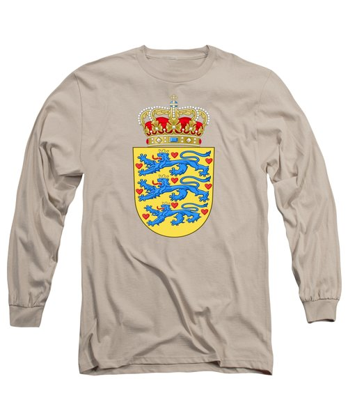 Denmark Coat Of Arms Long Sleeve T-Shirt by Movie Poster Prints