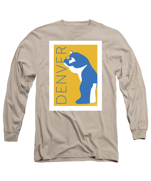 Denver Blue Bear/gold Long Sleeve T-Shirt