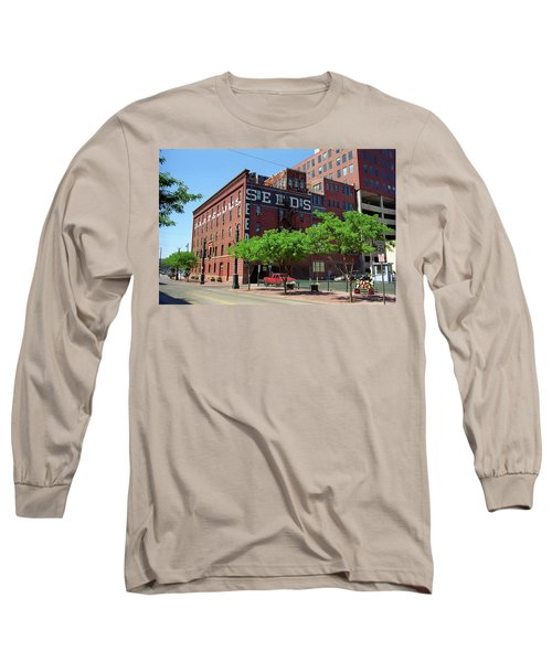 Long Sleeve T-Shirt featuring the photograph Denver Downtown Warehouse by Frank Romeo
