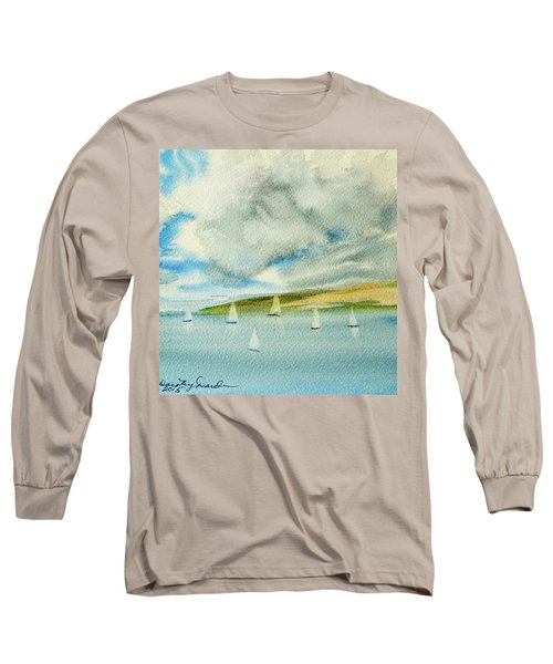 Dark Clouds Threaten Derwent River Sailing Fleet Long Sleeve T-Shirt