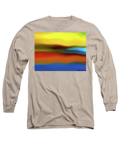Desert River Landscape Long Sleeve T-Shirt
