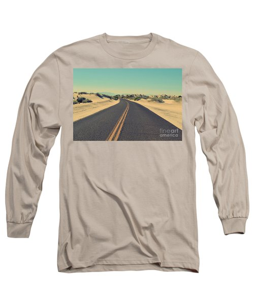 Long Sleeve T-Shirt featuring the photograph Desert Road by MGL Meiklejohn Graphics Licensing