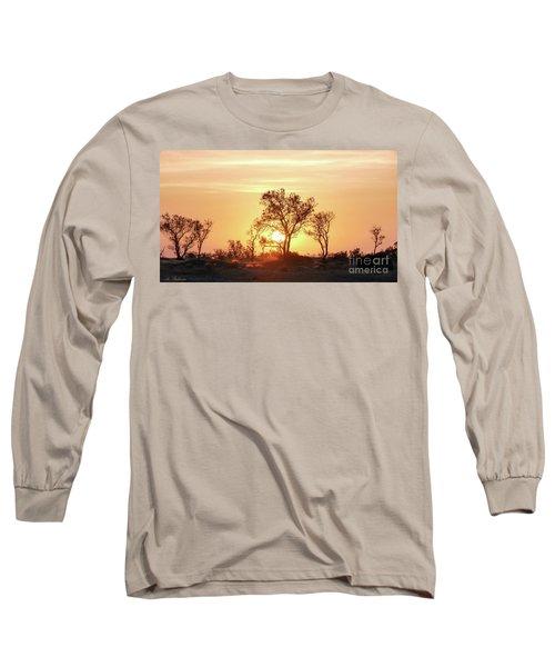 Long Sleeve T-Shirt featuring the photograph Desert Sunset by Arik Baltinester