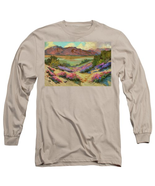 Desert Verbena At Borrego Springs Long Sleeve T-Shirt by Diane McClary