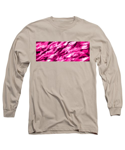 Designer Camo In Hot Pink Long Sleeve T-Shirt