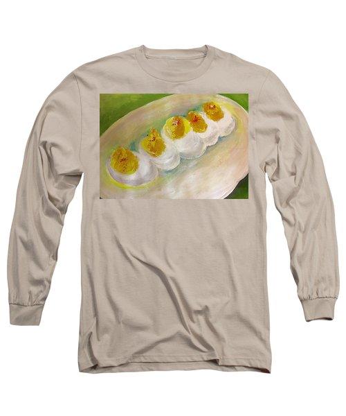 Devilled Eggs Long Sleeve T-Shirt by Lisa Kaiser