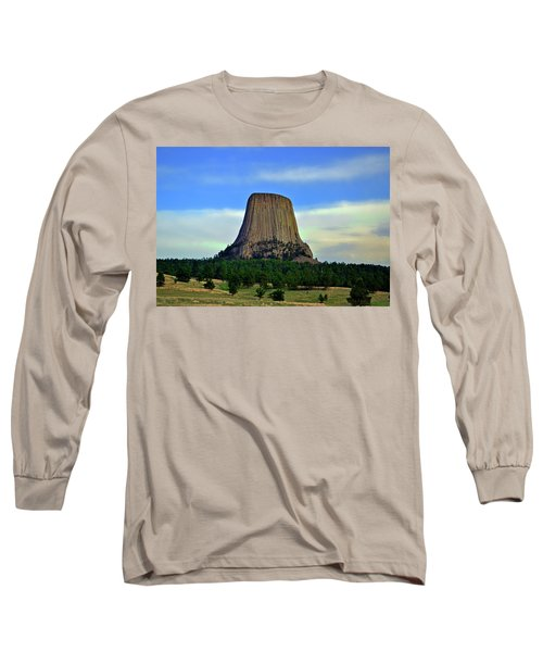 Long Sleeve T-Shirt featuring the photograph Devils Tower 002 by George Bostian