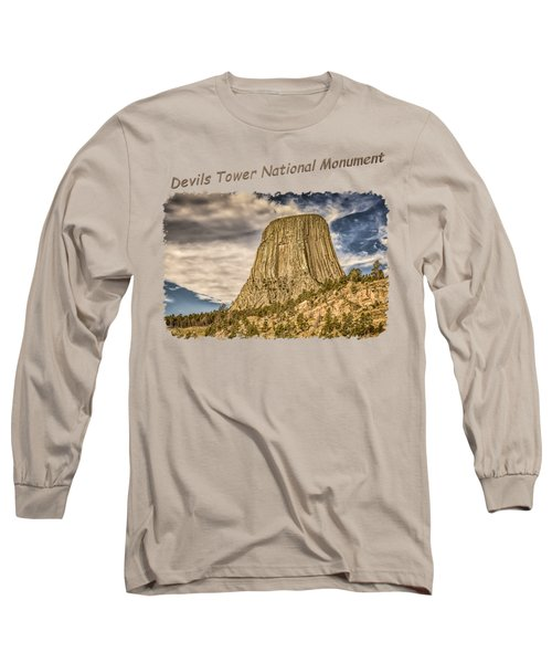 Devils Tower Inspiration 2 Long Sleeve T-Shirt by John M Bailey