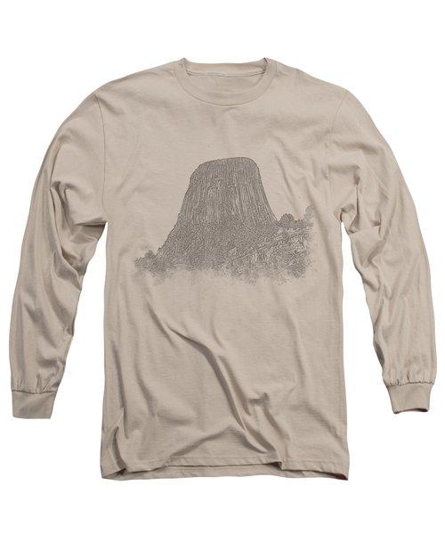 Devils Tower Vignette Long Sleeve T-Shirt