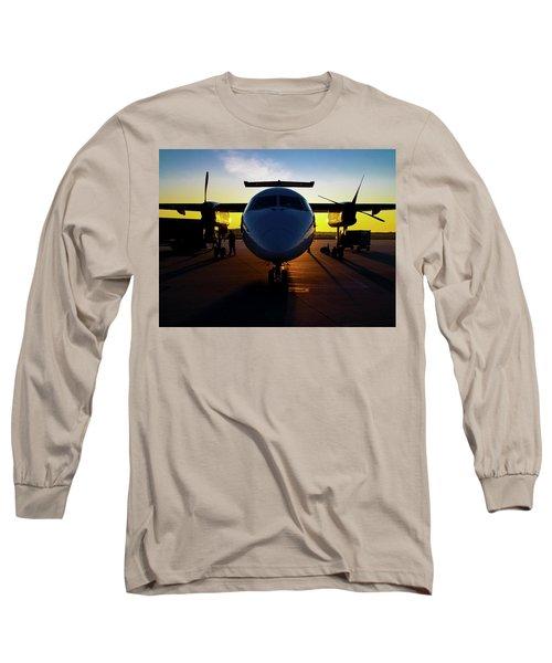 Dhc-8-300 Refueling Long Sleeve T-Shirt