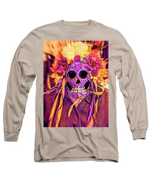 Dia De Muertos Mask Long Sleeve T-Shirt