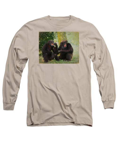 Long Sleeve T-Shirt featuring the painting Did You See That by Judy Kay