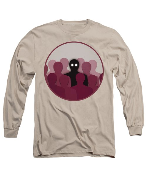 Different And Alone In Crowd Long Sleeve T-Shirt