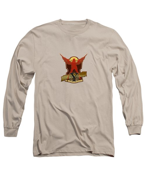 Winged Woman Initial Y Long Sleeve T-Shirt