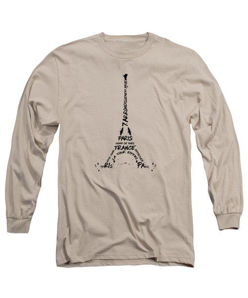 Digital-art Eiffel Tower Long Sleeve T-Shirt