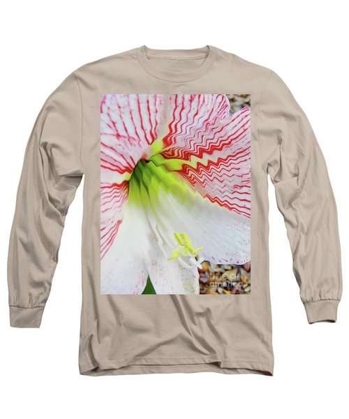 Digital Pink And White Long Sleeve T-Shirt
