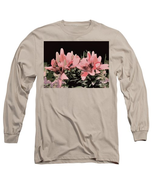 Digitalized Lilies Long Sleeve T-Shirt