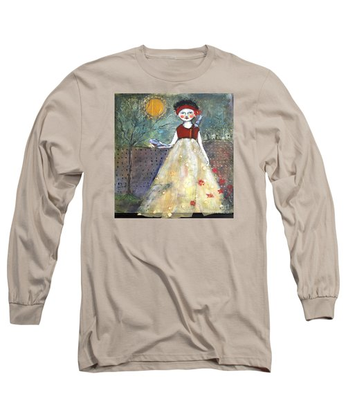 Dining By Midnight  Long Sleeve T-Shirt by Sharon Furner